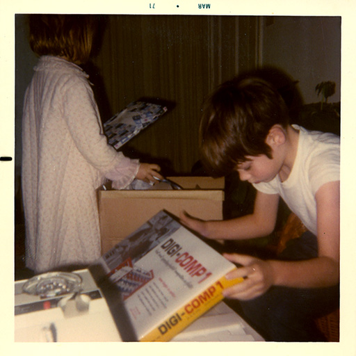 Young Gavin With His First Computer